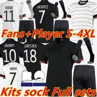 4XL Almanya Futbol Formaları 2021 2022 Hayranları Oyuncu Sürüm Werner Haertz See Muller Hummels Gnabry Goretzka Reus Kroos Avrupa Kupası Futbol Gömlek Kitleri Çorap Tam Set