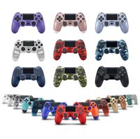 Toy Bluetooth Wireless Controller For PS4 Vibration Joystick Gamepad Game Handle Controllers Play Station Without Logo With Retail Box Joysticks