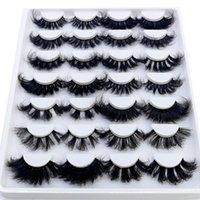 False Eyelashes 14 Pairs Fluffy Lashes 25mm 3D Mink Long Thick Natural Wholesale Vendors Makeup