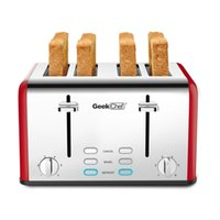 Red slice toaster,retro stainless steel,extra wide slots,defrost, cancel function, 6 browning settings