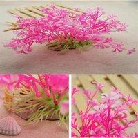 Decorazioni serbatoio di pesce decorazione di plastica acquario piante verde acqua acuarios erba ornamento vegetale vetro