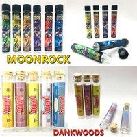 Moonrock Glasrohre Dankwoods Leere Flasche 20 * 120mm Glasröhrchen Verpackung Moonrock-Gelenke Pre-Roll-Paket OEM-Aufkleber für Trockenkräuter 1Lot = 250 stücke