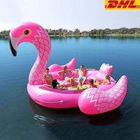 Parti Favor 6-7 Kişi Şişme Dev Pembe Flamingo Havuz Şamandıra Büyük Göl Şamandıra Şişme Unicorn Tavuskuşu Şamandıra Adası Su Oyuncakları Yüzmek Eğlenceli Raft