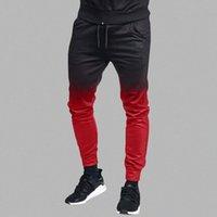 Erkekler Rahat Solunum Gevşek Uzun Modu Ince Kişiselleştirilmiş Degrade Rastgele Spor Break Kravat Boya Joggers