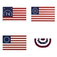 DHL-Versand 90 * 150cm 13 Sterne US USA 1777 Amerikanische Betsy Ross Flag Unabhängigkeitstag-Flagge GWA4550
