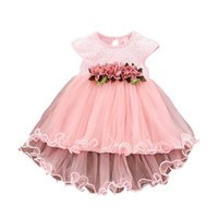 Girl's Dresses 2021 Cute Baby Girls Summer Floral Dress Princess Party Tulle Flower Toddler Infant Mesh Tutu 0-3Y Clothing