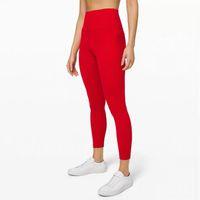 Euoka сплошной цвет женские йоги брюки с высокой талией спортивный тренажерный зал носить леггинсы эластичные фитнес леди общие полные колготки Размер тренировки XS-XL