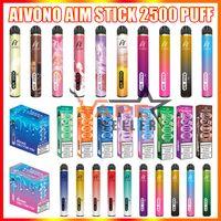 Auténtico AIVONO AIM BEAK DESECHABLE VAPE PEN EX Dispositivo de cigarrillo con batería de 1400mAh 9ML Cartucho preceplado de 2500 Puffs Starter Kits vs Bang XXL DUO