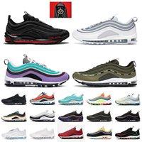 Nike Air Max 97 Nike 97 Off White Yastıkları 2021 Kadın Erkek Koşlama Ayakkabı 97 MSCHF Lil Nas X Satan Sneakers AirAir MaxMaksimum beyaz gri