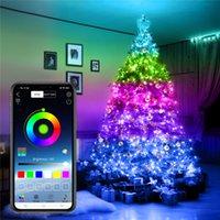 5 M 10 M 20 M USB Peri Dize Işıkları Müzik Sync Renk RGB LED Şerit Bluetooth Uygulaması Kontrol Bakır Tel Dizeleri Noel Partisi Düğün Dışarı Dekorasyon Stokta