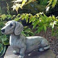 Resin Dog Statue Home Artigianato Giardino esterno Figurine Accessori in miniatura FAI DA TE Animale Cucciolo Scultura Decorazione Drop # 20 Decorazioni