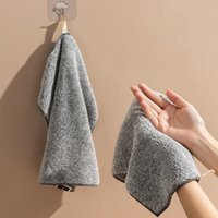 Towel 3 Units / Set Bamboo Charcoal Napkin Kitchen Cleaning Cloth Supplies Gray House