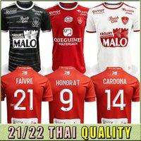 22 22 Maillot de Foot Brest Stade 29 Jerseys de futebol Away 2019 2020 Diallo Charbonnier Lasne 2021 2022 Faussurier Grandsir Brosis Shirt Tailândia