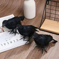 حزب الديكور هالوين ديكور الدعامة سوداء البلاستيك الغراب تأثيري الطيور الاصطناعية سحر الصيد النخب المنزل حديقة مسكون المنزل