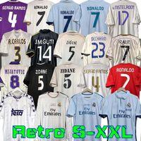 Top Real Madrid Retro Soccer Jersey Guti Ramos McManaman 13 14 15 16 Ronaldo Zidane Beckham Raul Redondo 94 96 00 01 02 03 04 06 07 Carlos Seedorf