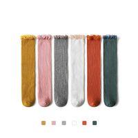 Calcetines Accesorios para niñas de algodón Lace Kids Knit Knee High Princess Largo 0-8Y B4343