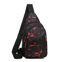 chest bag fashion printing crossbody fanny pack portable outdoor sport cycling climbing shoulder packs unisex men women fitness duffel bags