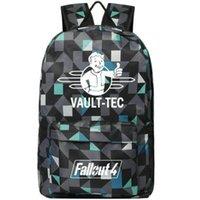 Zaino Praise Vault Tec Daypack Fallout 4 Quality Schoolbag Borsa da sole Borsa per scolastiche Portatile Borsa da sole Satchel