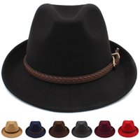 Wide Brim Hats Men Women Wool Fedora Trilby Caps Jazz Sunhat Classical Retro Party Street Style Outdoor Travel Winter Size US 7 1 4 UK L