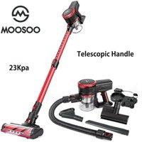 MoOSOO K17U 23KPA Cable sin cable Aspirador de aspiración fuerte 200W Motor sin escobillas con tubo telescópico para mascotas Coches de alfombra