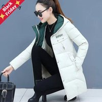 Orwindny Women Thicken Parkas Hooded 2021 Winter Coat Plus Size S-3XL Wadded Jacket Long Parka Gilrs Jaqueta Feminina Women's Down &