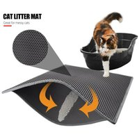 Cat Litter Mat Pad EVA Cats Trapper Waterproof Durable Black Grey Creative Rug Beds & Furniture