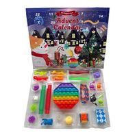 Cross fronteira Calendário Calendário Cerca Cerca Surpresa Descompression Joy Relief Toys Set DIY Decompression Brinquedos Festa Favor