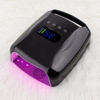 Secadores de unhas Luz vermelha 96W sem fio UV LED Lâmpada Manicure Recarregável Grande Secador de Bateria Curing Gel Polonês Alta Poder para o polegar