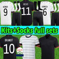 ألمانيا لكرة القدم الفانيلة المشجعين لاعب نسخة تدريب فيرنر ريوس كيميش هافرز كروس غنابري الرجال النساء أطقم كرة القدم قمصان السراويل الأعلى