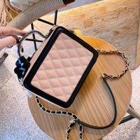 Bolsas de ombro 101505 04 Saco de câmera clássico das mulheres, caixa de maquiagem e um mensageiro