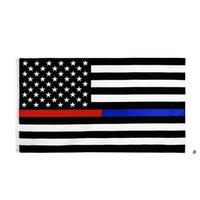 Amerikanische Flagge 90cmx150cm Gesetz Durchsetzungsoffizier Zweiter Änderungsantrag Bill US Police Fine Blue Line American Betsy Ross Flag OWB5911
