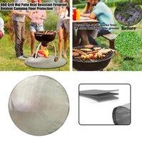 Grill Mattenbereich Teppich Terrasse Bodenschutz Outdoor Camping Rutschfeste Hitzebeständige Wiederverwendbare Garten Feuerfest Backyard Picknick BBQ Werkzeuge