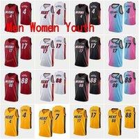 Ciudad ganada edición Victor 4 Oladipo Basketball Jersey Kyle 7 Lowry P.J. PJ 17 Tucker Markieff 88 Morris Hombres Mujeres Mujeres Amarillo Blanco Rojo Negro Rosa Azul