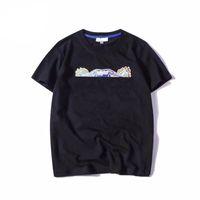여름 망 여성 T 셔츠 패션 티셔츠 유니섹스 통기성 느슨한 짧은 소매 머리 패턴 자수 편지 탑 22 색