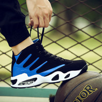 Spring New 2021 Air Cushion Running High Top Comfortable Outdoor Basketball Shock Absorption Antiskid Student Sports Men's Shoes 28K3
