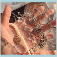 Chokers & Pendants Jewelryheart Chain Choker Necklace For Women Vintage Collar Goth Cross Pendant Necklaces Aesthetic Halloween Jewelry Vale