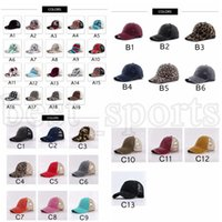 38 Colors Ponytail Hat Washed Mesh Back Leopard Plaid Camo Messy Bun Baseball Cap Criss Cross Trucker Hats CYZ3120