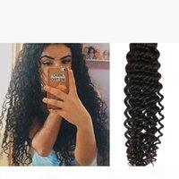 Glamorous Virgin Human Hair 1 Bundles Deep Wave Curly Brazilian Hair Weaves 8-34Inch Natural Color Peruvian Indian Curly Hair Extensions