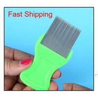 Dog Cat Head Hair Lice Nit Comb Pet Safe Flea Eggs Dirt Dust Remover Stainless Steel Grooming Brushes BWD9416