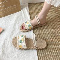Lage slippers Casual vrouwelijke schoenen Slides Luxe 2021 Flat Soft PU Rome Basic Women Pantofle SOF