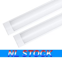 NL Stock Loja 3FT Luz Luminária 48W LED Tubo Luzes 4800LM 6000K 4000K 3000K 3 Temperaturas de cor luzes 120cm Garagem Closet Iluminação para escritório em casa cave