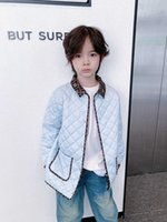 kids girls boys down jacket autumn winter baby boys turn-down collar cotton padded coat children Outerwear clothes 3 colors