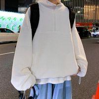 Men's Hoodies & Sweatshirts Turtleneck Pullover Hoodie Korean Casual Fashion Loose Jacket Streetwear Sweatshirt Large Size