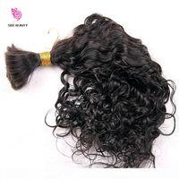 Human Treiding Hair Bulk Wave Wave Wave Bulk Vergine Brasiliana Bulk Bulk Trecciatura Capelli Estensioni Slitta per capelli ricci Stile libero Spedizione veloce