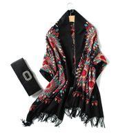 Scarves 2021 Designer Brand Women Scarf Spring Winter Pashmina Bandana For Lady Cashmere Thick Neck Head Warm Knit Echarpe