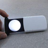 Microscopio 8x 37mm Lenti LED Led Illuminato Gioielli estraibili Gemma Identificazione Tipo UV Lampigliera Lente di ingrandimento Lente d'ingrandimento 93708 Leggero