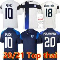 2021 فريق فنلندا القومي رجل كرة قدم الفانيلة Pukki Skrabb Raitala Pohjanpalo Kamara Sallstrom Jensen Lod Home