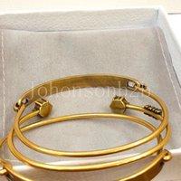 بيان أزياء الذهب المفاجئة سوار مجوهرات الفاخرة مصمم الهدايا للنساء الفتيات مع مربع الأصلي DD021