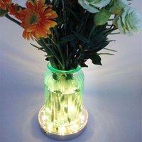 Party Decoration 2021 Rushed Free Express 20Units / Los RGB Remote Controlled LED Vase Lichtbasis, Hochzeitsmittelstücke für