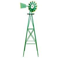 Двор садовых украшения декоративные газонные ветряные мельницы, устойчивый к устойчивому зеленым ветру, сдержанные в течение сезона Нет необходимости батареи или электрические с 4 дизайном ног